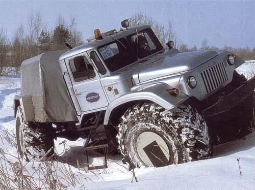 Мощный российский вездеход «Мамонтенок» перевезет груз по любому бездорожью